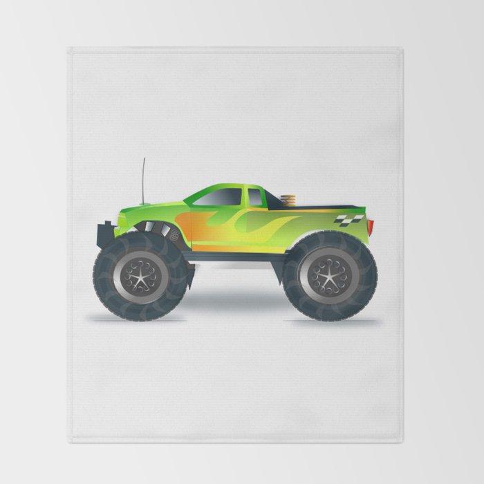 Monster Truck Toy Design Throw Blanket