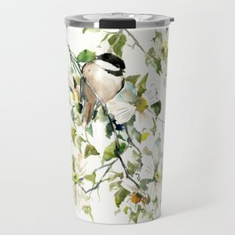 chickadee and dogwood Travel Mug
