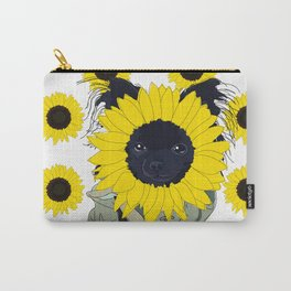Sunflower Chihuahua Carry-All Pouch