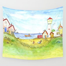 At the seaside Wall Tapestry