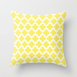 CLOVER QUATREFOIL LEMON Throw Pillow