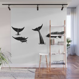 Whale flukes Wall Mural