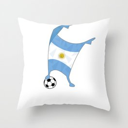 Argentina Flag Football Cup Soccer 2018 Dabbing World Throw Pillow