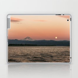 Mt. Hood Moonrise at Sunset Laptop & iPad Skin