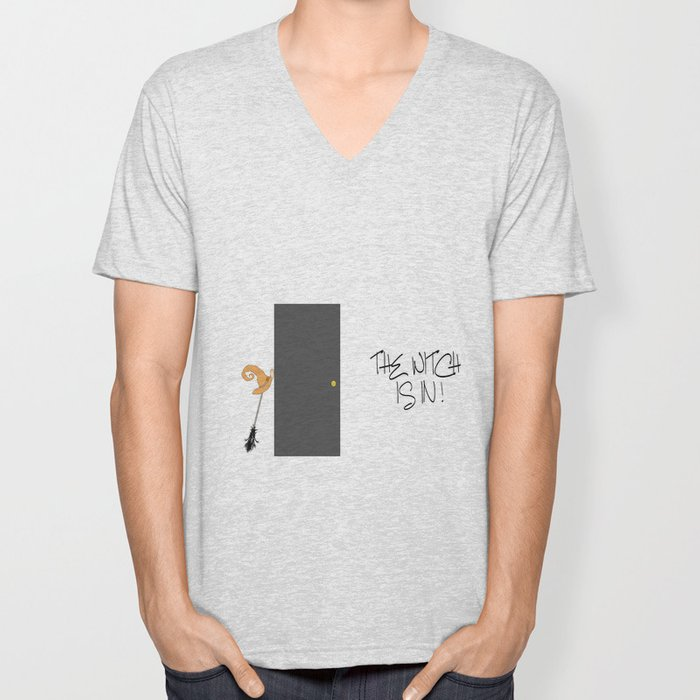 The Witch is IN ! Unisex V-Neck