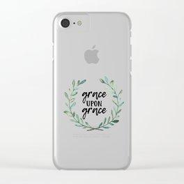 Grace Upon Grace Clear iPhone Case