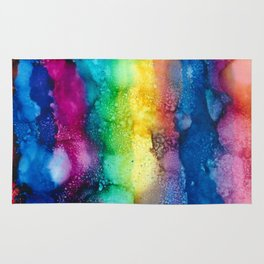 Abstract, Alcohol ink Rug