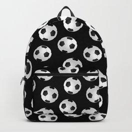 Soccer Ball Pattern-Black Backpack