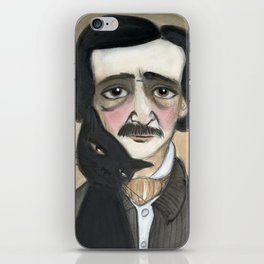 Edgar Allan Poe and the Black Cat iPhone Skin
