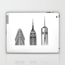 New York City Iconic Buildings-Empire State, Flatiron, One World Trade Laptop & iPad Skin