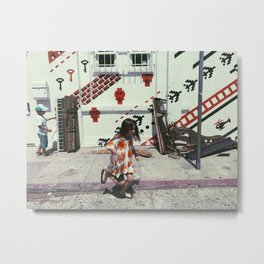 Baby Kids with Baby Grand Metal Print