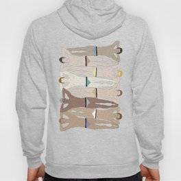 Sunbathers - Retro Male Swimmers Hoody