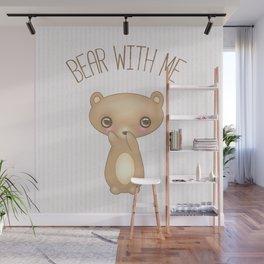 Bear With Me - Creepy Cute Teddy Wall Mural