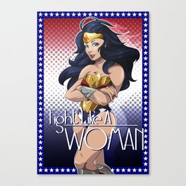 Fight Like A Woman Canvas Print