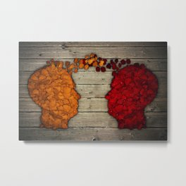 Communication and relationship Metal Print