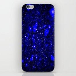 Dark Matter Galaxy Blue iPhone Skin