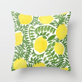 The Fresh Lemon Throw Pillow
