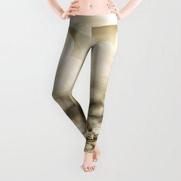 Shiny gold sparkling bokeh Leggings