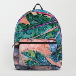 Rubber Tree - Alcohol Ink Backpack