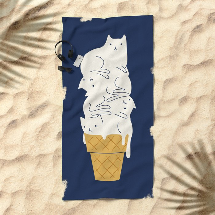 Meowlting Beach Towel
