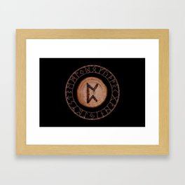 Perthro Elder Futhark Rune of fate and the unmanifest, probability, luck, nothingness, the unborn Framed Art Print