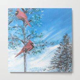 Two Cardinals Metal Print