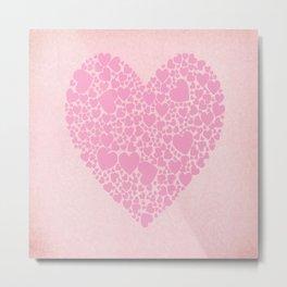 Rose Hearts Metal Print