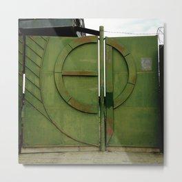 #175Photo #193 Closed #Gate #GreenWithRust #Retro Metal Print