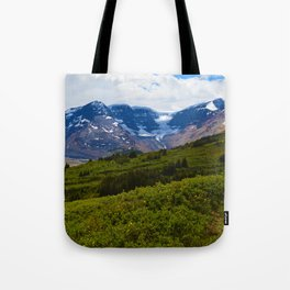View along the Wilcox Pass Hike in Jasper National Park, Canada Tote Bag