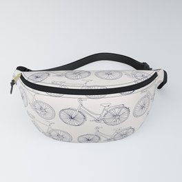 Bicycles pattern navy Fanny Pack