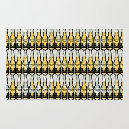 Corona beer pattern pop art illustration Rug