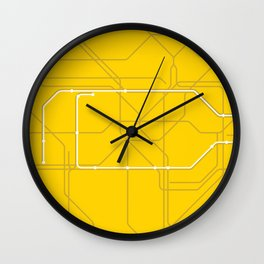 London Underground Circle Line Route Tube Map Wall Clock