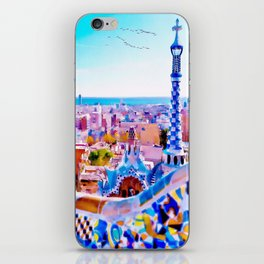 Park Guell Watercolor painting iPhone Skin