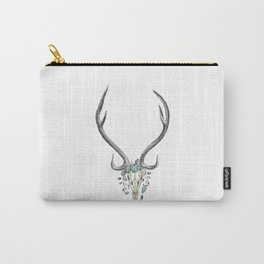 Floral Stag Skull Carry-All Pouch