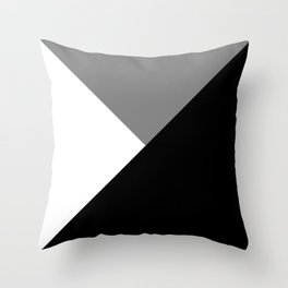 Black and White Angles Throw Pillow