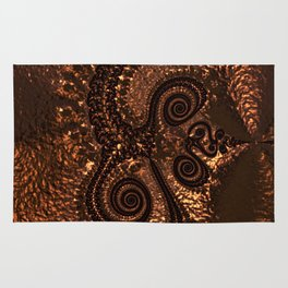 Textured Hammered Copper Rug