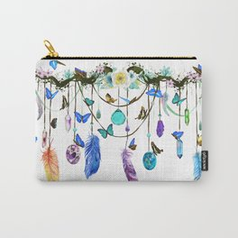 Folkestone Feather, Crystal And Butterfly Spirit Gazer Carry-All Pouch