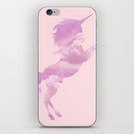 Pink Sky Unicorn iPhone Skin