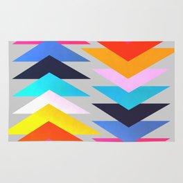 Multicolored triangles Rug