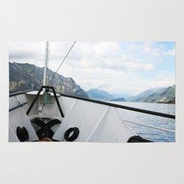 Boat on Lake Garda Rug