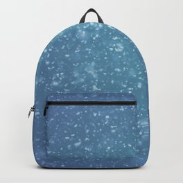 Hand painted blue white watercolor brushstrokes confetti Backpack