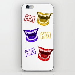 what's so funny? iPhone Skin