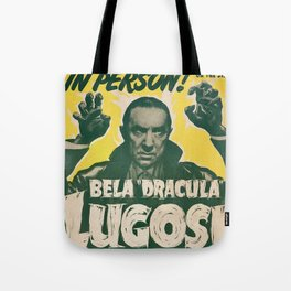 Dracula, Bela Lugosi, vintage poster Tote Bag