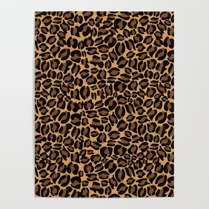 Leopard Print | Cheetah texture pattern Poster by koovox