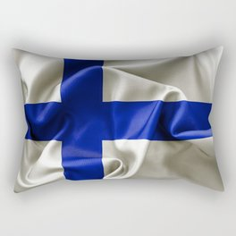 Finland Flag Rectangular Pillow