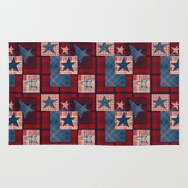 Creative patchwork. Star. The creative pattern. Rug