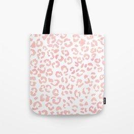 Blush pink modern leopard pattern watercolorpattern Tote Bag