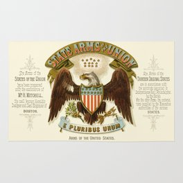 State arms of the union / 1876 Rug