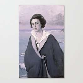 At The Seaside, Self-portrait by Romaine Brooks Canvas Print