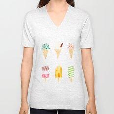ice cream selection Unisex V-Neck